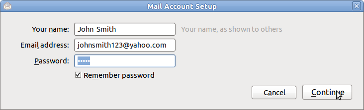 how to add yahoo email to lg4